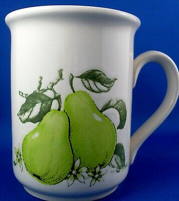 RARE BILTONS England GREEN PEAR FRUIT POTTERY MUG EXC Kitchen Collectable In Aus