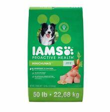 Iams Adult Dry Dog Food 50 Lbs Proactive Health MiniChunks Chicken