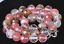 """Pretty 10 mm Faceted Watermelon Tourmaline pierres précieuses Perles rondes Collier 18/"""" AAA"""