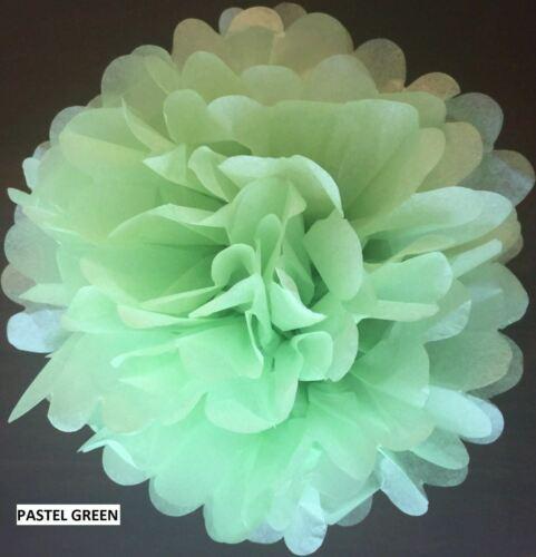 """12/"""" papier tissu pompons Pompons Fleur Boules Handmade Mariage Fête Décoration"""