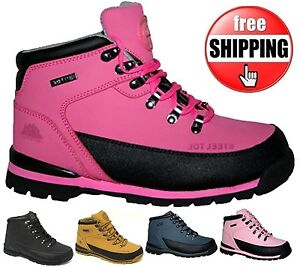 WOMENS LADIES SAFETY STEEL TOES CAPS