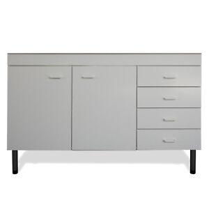 Mobile sottolavello 120x50 cm bianco per cucina con 2 ante e ...