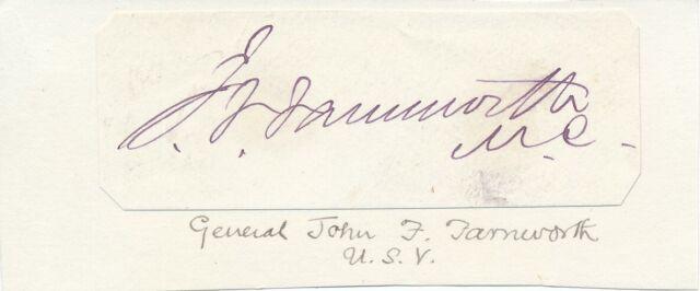 John F. Farnsworth - Signature of the Union Army General