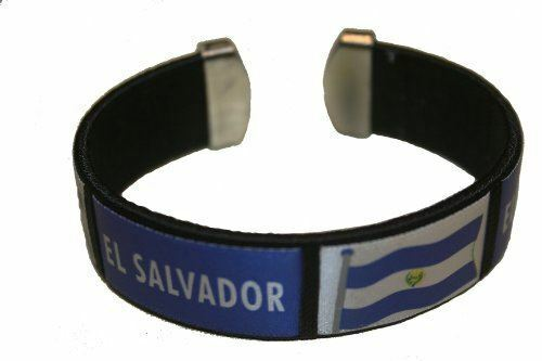 EL Salvador Black Country Flag THICK C/' Bracelet Wristband. New