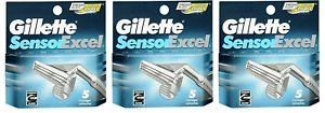 NEW-Gillette-Sensor-Excel-Refill-Razor-Blades-5-Cartridges-3-Pack