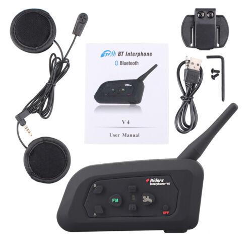 Fodsports Wireless Bluetooth Motorcycle Helmet Intercom Interphone ...