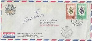 Details about LIBYA US 1962 REGISTERED TRIPOLI OASIS OIL COMPANY AIRMAIL  COVER TO HOUSTON NEAT