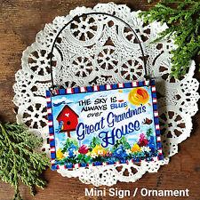 DECO Mini Sign GREAT GRANDMA 'S  Gift Wood Ornament Relative Family Plaque USA