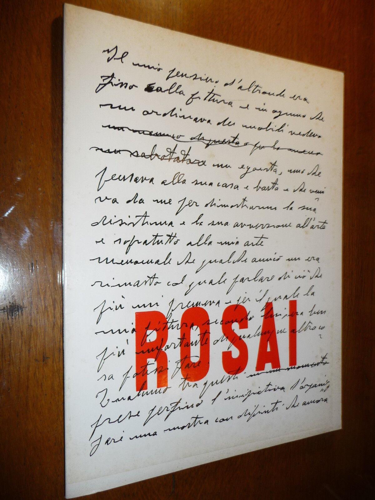 I ROSAI DELLA GALLERIA SANTACROCE CATALOGO DELLA MOSTRA FIRENZE 1976