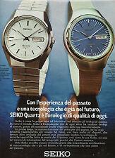 (AM) EPOCA973-PUBBLICITA'/ADVERTISING-1973- SEIKO CA 013 e BQ 003