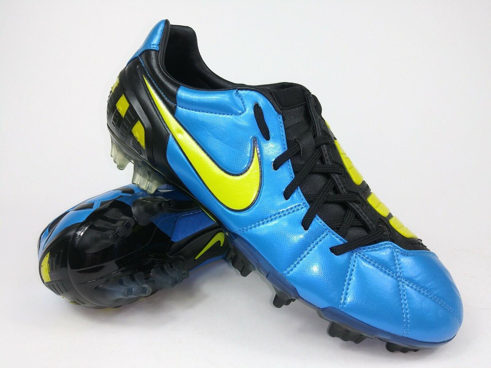 Nike Hombre Rareza Total90 Laser Lll Fg 385423 471 Azul Negro Tacos botas