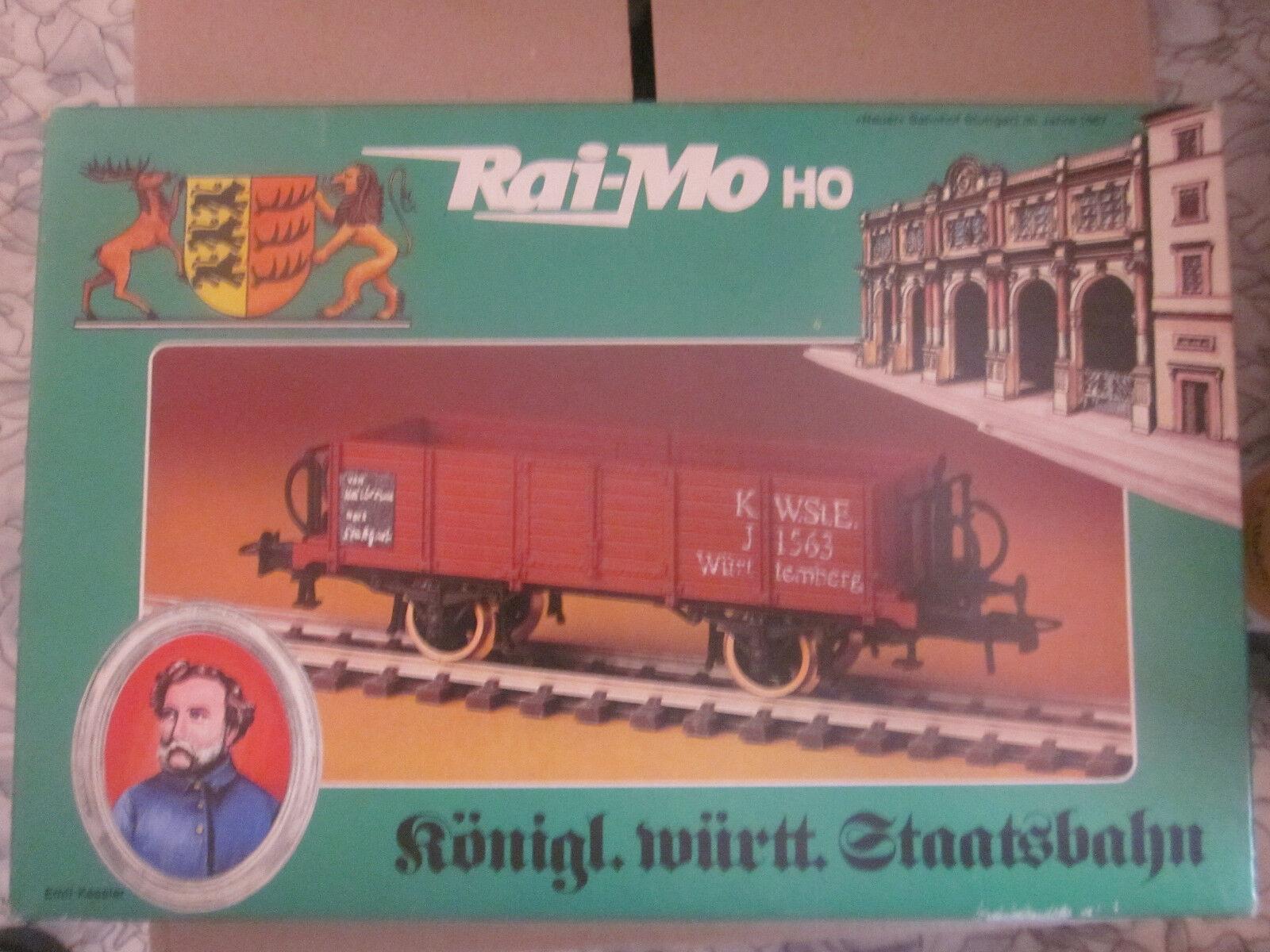 RAI-MO Bausatz H0 2 x Offener württ. Güterwagen Art Nr 200 220 NEU + OVP
