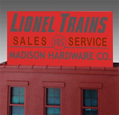 Miller/'s Madison Hardware Sales n Service Animated Neon Billboard O//HO 88-1011