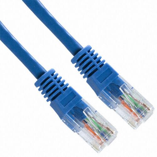 50 Pack Lot 7ft CAT5e Ethernet Network LAN Patch Cable Cord 350 MHz RJ45 Blue