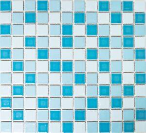 Détails sur Mosaïque Bleu Brillant Salle de Bain Mur de Douche Carreaux  Miroir 18-0406_f 10 Tapis- afficher le titre d\'origine