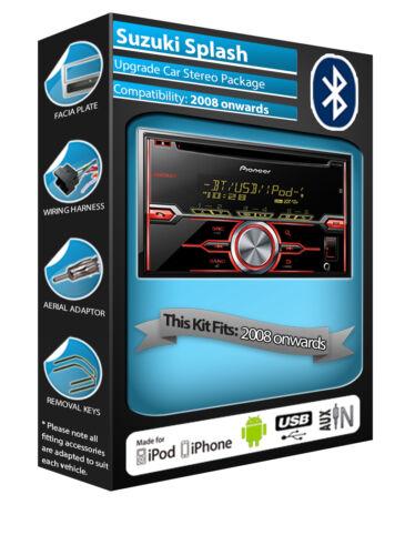 Bluetooth Manos Libres Kit en Suzuki Splash reproductor de CD pionero coche RADIO AUX USB