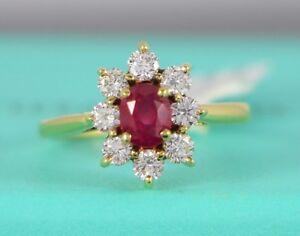 0701444b0 $32500 Tiffany & Co GIA Burma Ruby No Heat 18K Gold Diamond ...