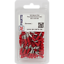 5-1,5 mm² rouge PVC Câble Lien Connecteur 100 lots plat steckhülse 2,8 x 0,5mm//0