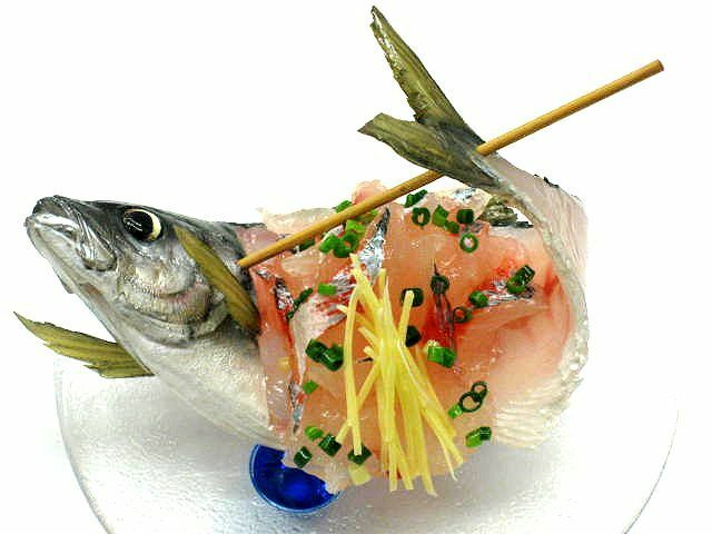 Japanese Fake Food Aji Tataki Skewer Set With Dish Sushi Nuovo
