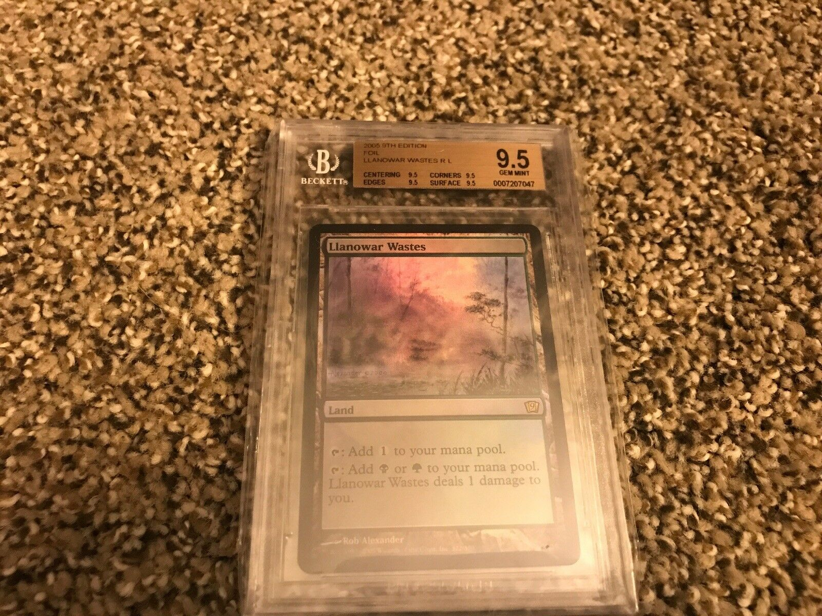 FOIL Llanowar Wastes x 1 MTG 9th Edition BGS BGS BGS 9.5 GEM MINT QUAD   VHTF. 93d3d0