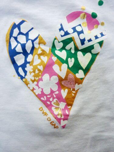 GAP DVF Girls Baby Bodysuit Vest Top Graphic African Tribal Gold Heart Print