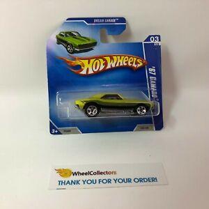 2009 Hot Wheels SHORT CARD /'67 Camaro #149 *Green JC10