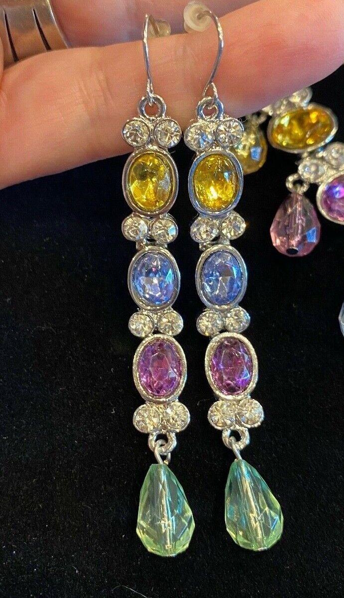 Vintage Arnold Scaasi Multi Color Crystal Necklac… - image 3