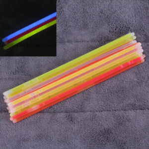 25x-Mixed-Color-Thick-Glow-Stick-Bracelet-with-Connector-Party-Favors-Rav-KYY