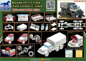 Bronco-1-35-35193-Russian-Zil-131-Truck-Early-Version