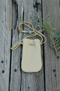 Leather-pouch-with-drawstrings-Leather-medicine-bag
