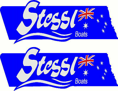 Quintrex Eclipse 2 Colour Set Fishing Boat Sticker Decal Marine Set of 2
