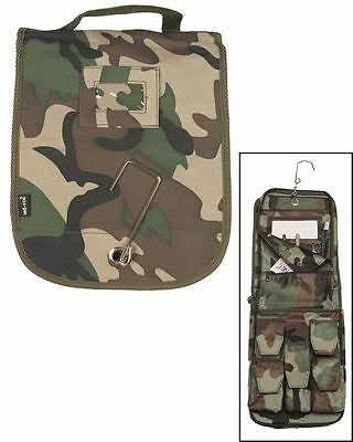 Hart Arbeitend Outdoor Camping Military Waschzeugtasche Kulturbeutel Hygiene Tasche Woodland Feine Verarbeitung