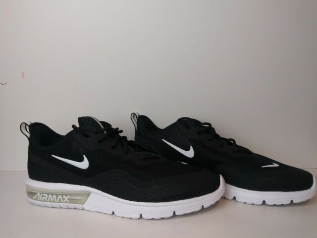 Nike Air Max Sequent 4.5 Black White Men Running Shoe Sneaker BQ8822 001 Sz 9.5