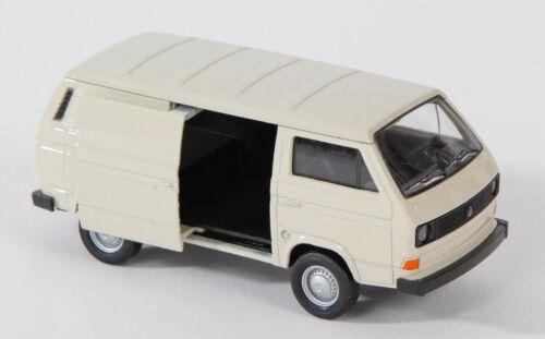 BLITZ VERSAND VW T3 VAN creme Welly Modell Auto 1:34 NEU /& OVP