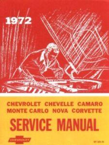 72 1972 Chevrolet Impala//Caprice owners manual ORIGINAL