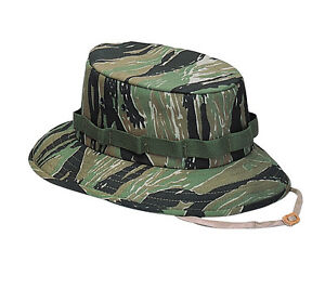 a4b43e10 Details about Rothco 5539 Tiger Stripe Camouflage Military Jungle Hat