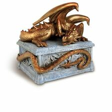 Alchemy Gothic Draco Artorius Sleeping Tomb Dragon Resin Jewellery Trinket Box