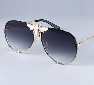9ad8f092aa Image is loading Big-Bee-Pilot-Sunglasses-Oversize-Metal-Frame-Vintage-