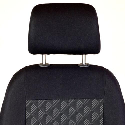 Schwarz Effekt 3D Sitzbezüge für BMW SERIE 3 3er Autositzbezug VORNE
