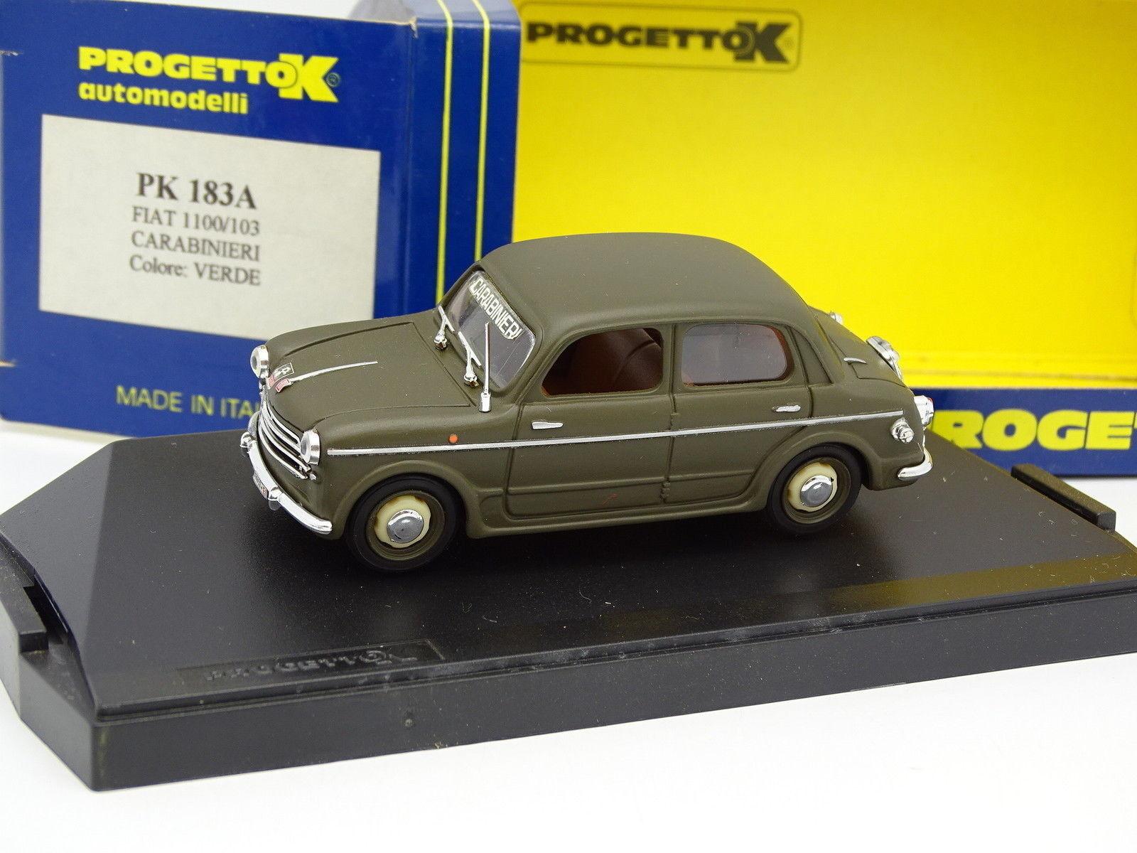 Progetto K 1 43 - Fiat 1100 103 Carabinieri Militaire