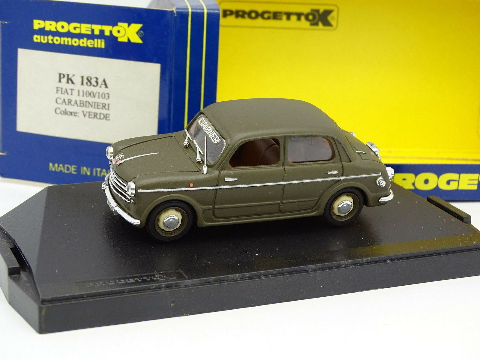 suministro directo de los fabricantes Progetto k 1 43 - Fiat Fiat Fiat 1100 103 Cocheabinieri Militar  perfecto