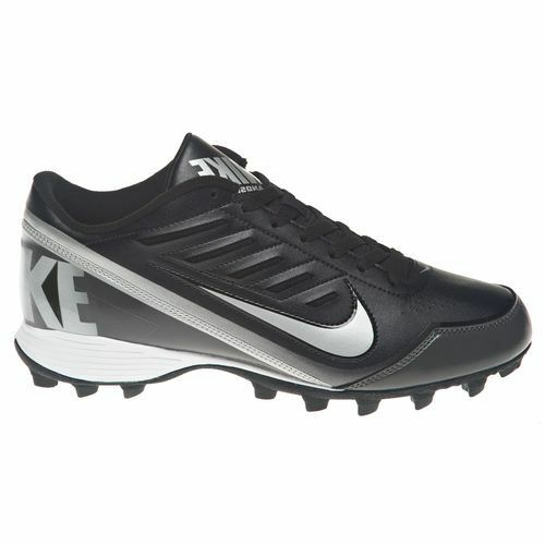 Nike Land Shark 3 4 Black Metallic Silver Tornado football cleat 511292-009