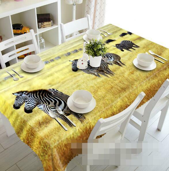 3D Zebras 423 Tablecloth Table Cover Cloth Birthday Party Event AJ WALLPAPER AU
