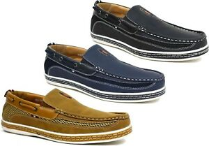 Mens-Slip-On-Soft-Cushioned-Fashion-loafer-Moccasins-Driving-Shoes-UK-Size-6-11