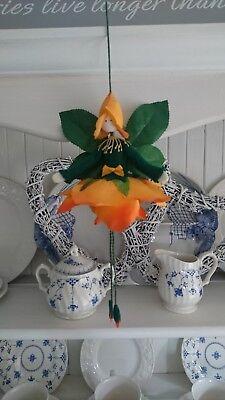 Art Dolls-ooak Dolls Buy Cheap Hand Made Flower Fairy Orange Rose Doll Figure
