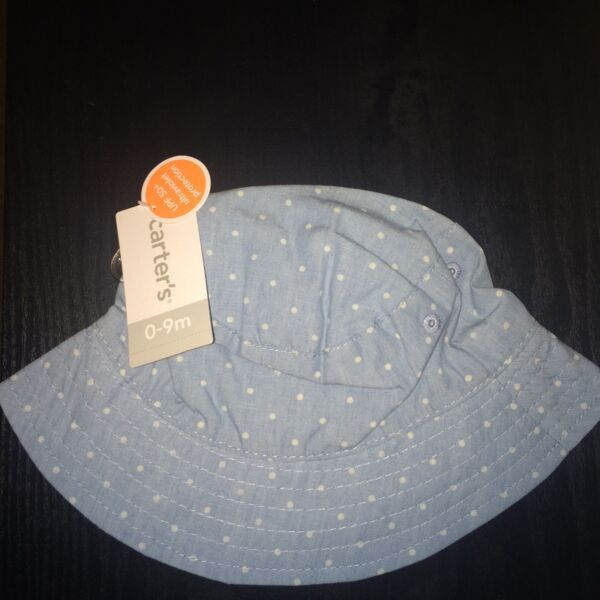 NWT Carter s Baby Infant Baby Kids Polka Dotted Bucket Hat 0-9 months Cute.  Hover to zoom e595245bd266