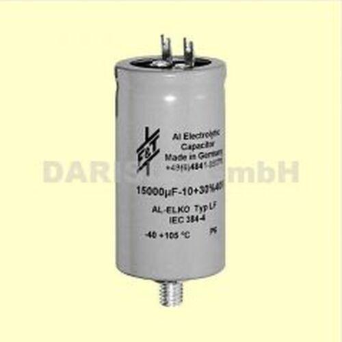 1 PC condensador Elko vaso f/&t 4700uf 100v soldar y fijación pernos