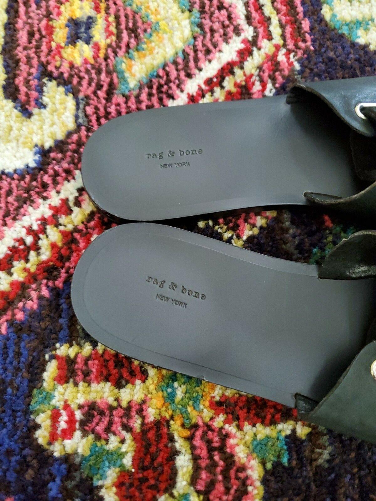 Rag and Bone Black Flats Size 9 - image 4