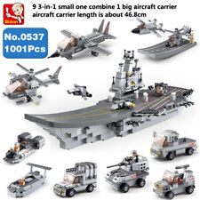 New 743pcs Aircraft Carrier Building Blocks Toy 8 in 1 Fits Blocks Xms Gift