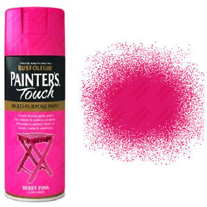 Details about x8 Rust-Oleum Painters Touch Multi-Purpose Aerosol Spray  Paint Berry Pink Gloss